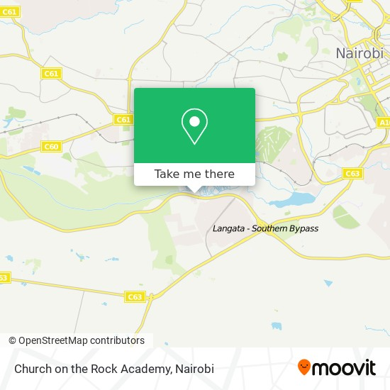 Church On The Rock Academy map