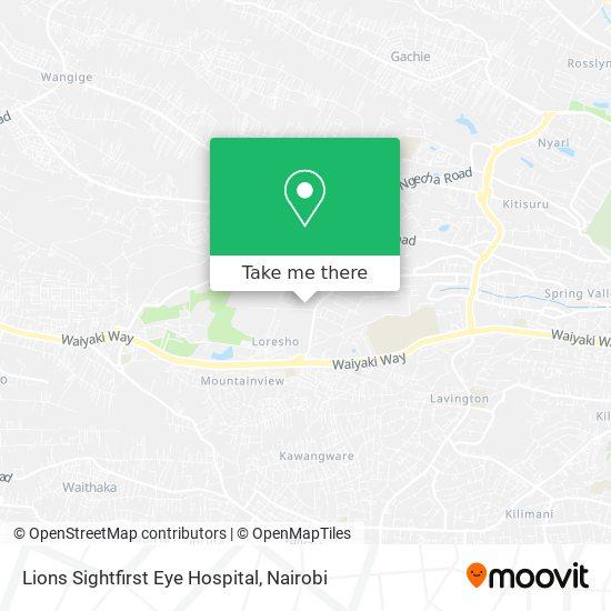 Loresho Eye Hospital map