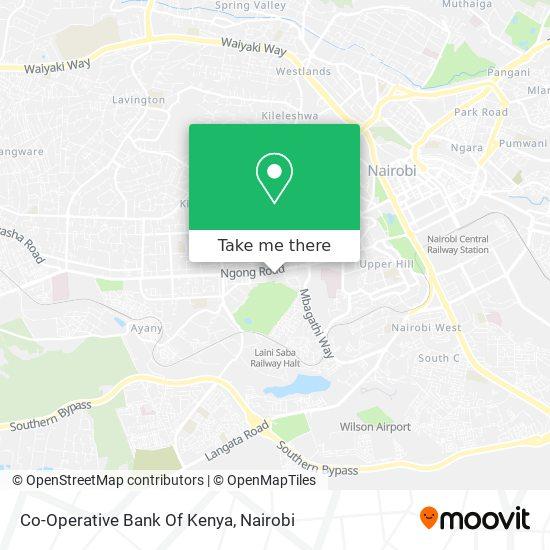 Co-Operative Bank Of Kenya map