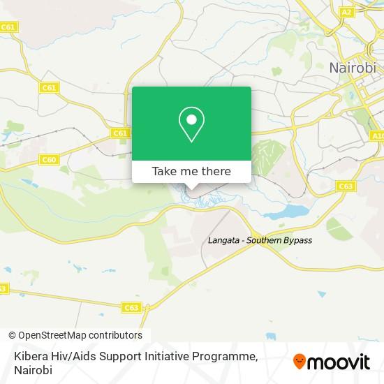 Kibera Hiv / Aids Support Initiative Programme map