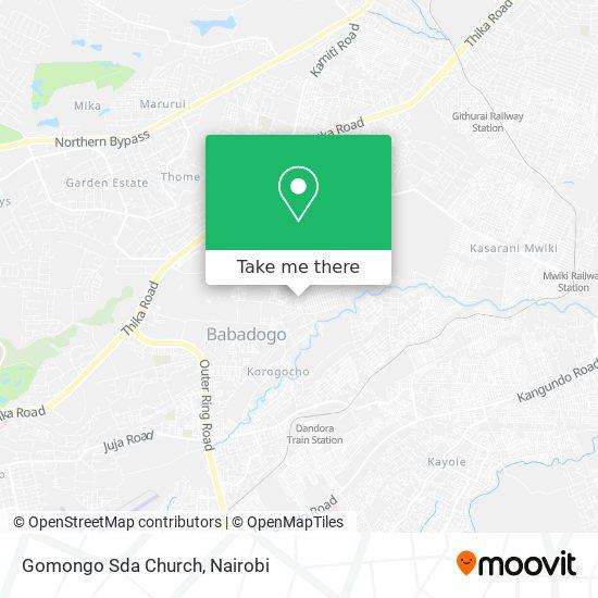 Gomongo Sda Church map
