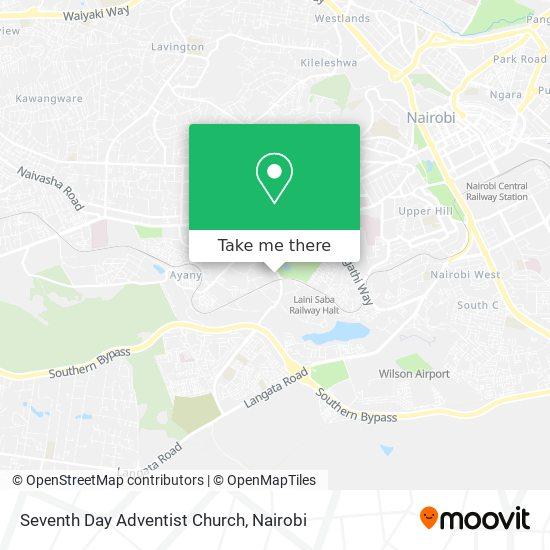 Seventh Day Adventist Church map