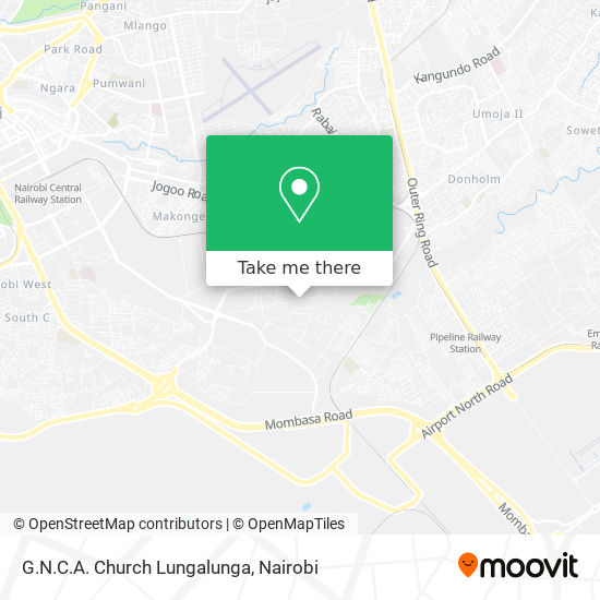 G.N.C.A. Church Lungalunga map