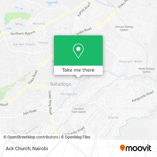 Ack Church map