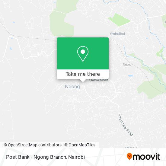 Post Bank - Ngong Branch map