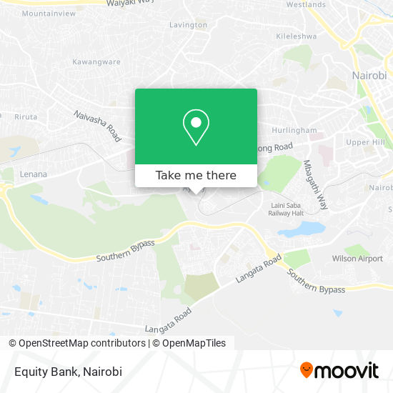 Equity Bank map