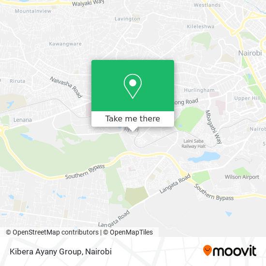 Kibera Ayany Group map