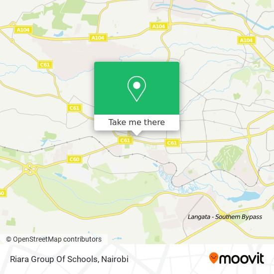 Riara Group Of Schools map
