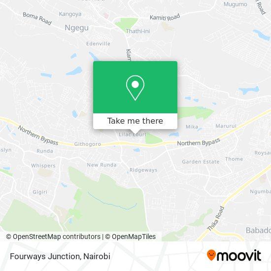 Fourways Junction map