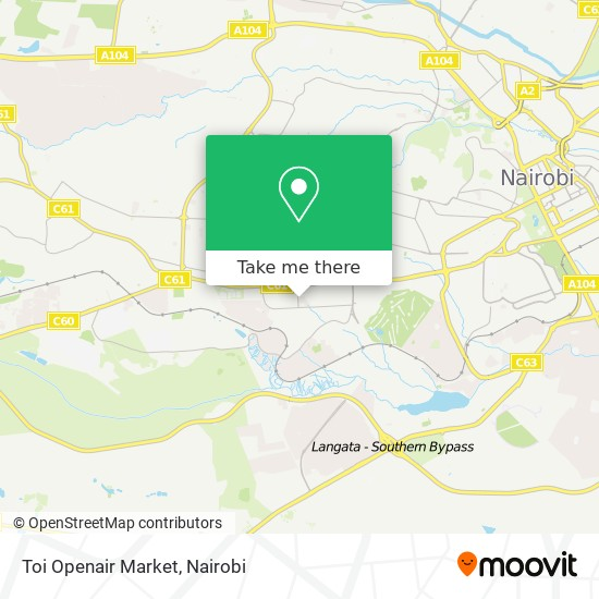 Toi Openair Market map