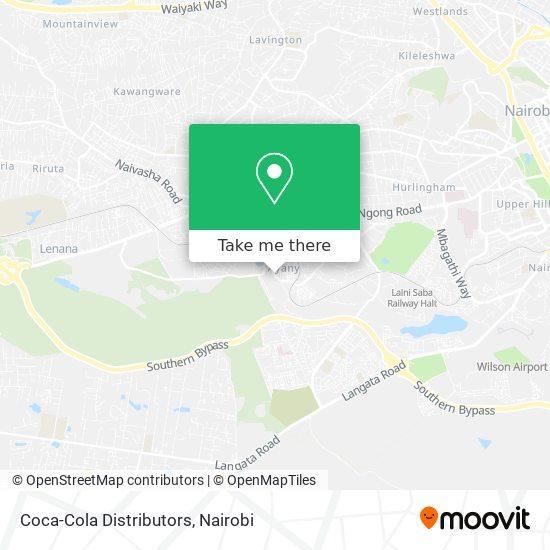 Coca-Cola Distributors map