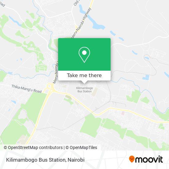 Kilimambogo Bus Station map