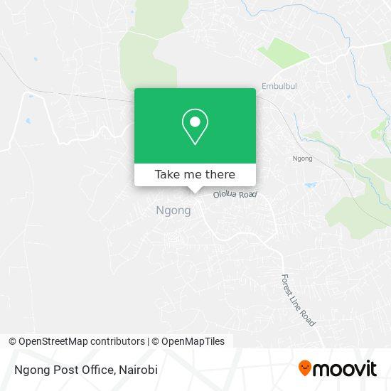 Ngong Post Office map