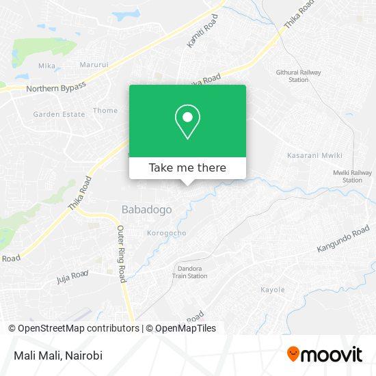 Mali Mali map
