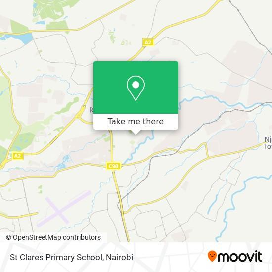St Clares Primary School / Catholic Church map