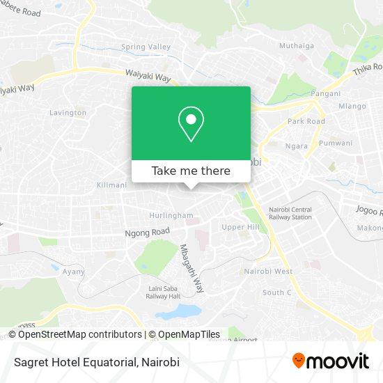 Sagret Hotel Equatorial map
