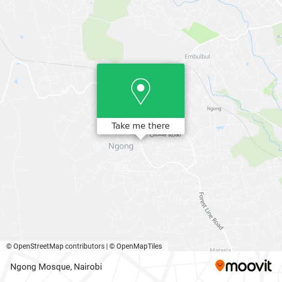Ngong Mosque map