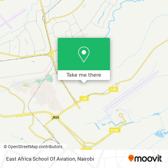 East Africa School Of Aviation map