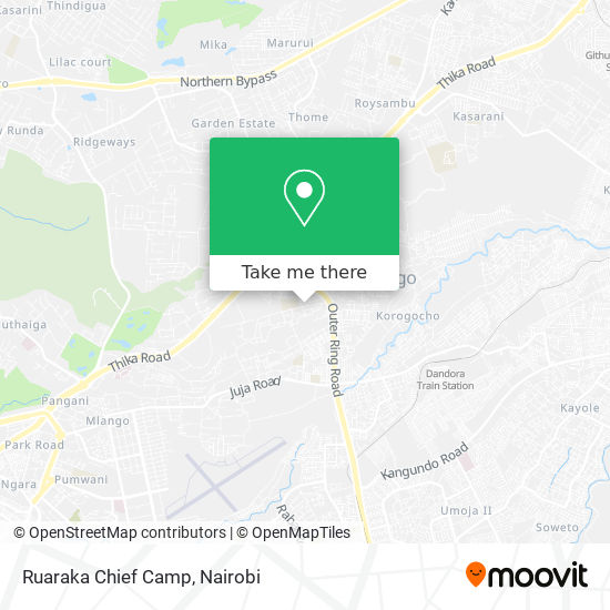 Ruaraka Chief Camp map