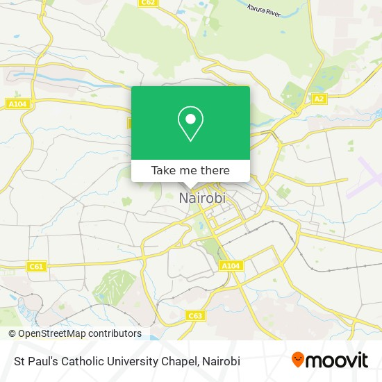 St Paul's Catholic University Chapel map