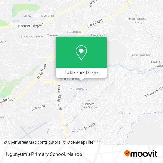 Ngunyumu Primary School map