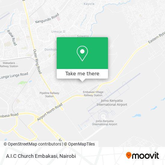 A.I.C Church Embakasi map