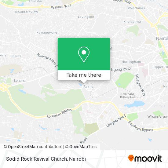 Sodid Rock Revival Church map