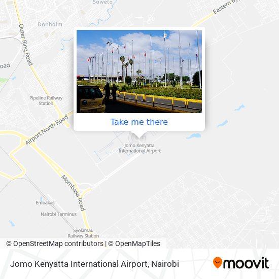 Jomo Kenyatta International Airport map