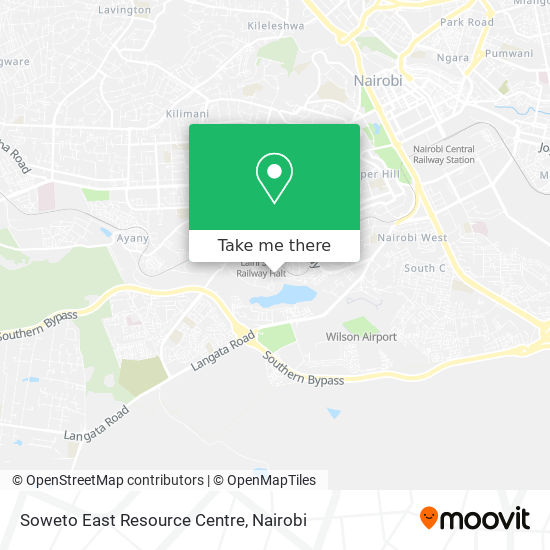 Soweto East Resource Centre map