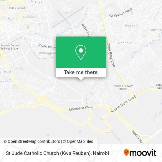 St Jude Catholic Church (Kwa Reuben) map