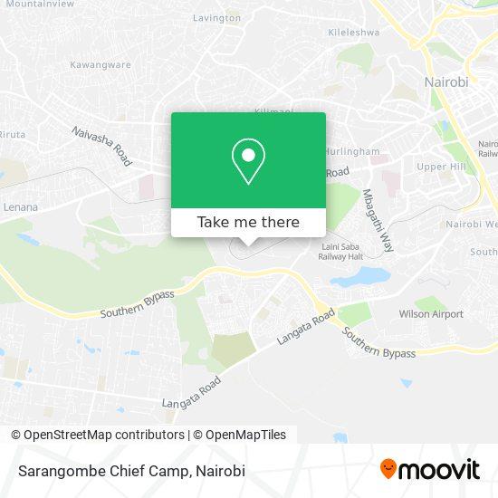 Sarangombe Chief Camp map