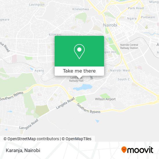 Karanja map