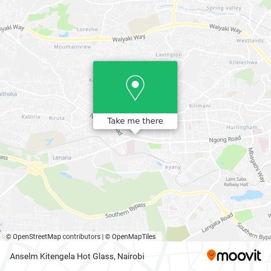 Anselm Kitengela Hot Glass map
