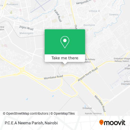 P.C.E.A Neema Parish map