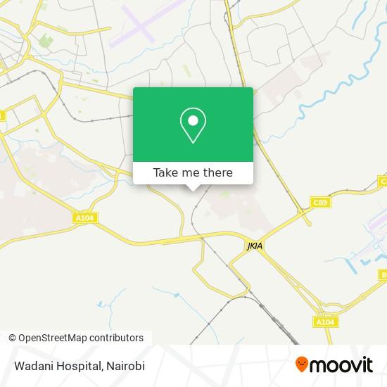 Wadani Hospital map