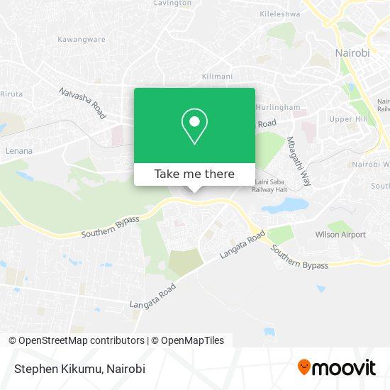 Stephen Kikumu map