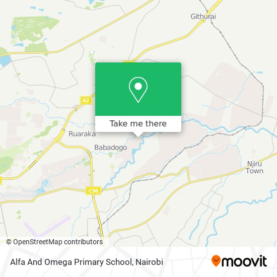 Alfa And Omega Primary School map