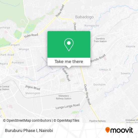 Buruburu Phase I map