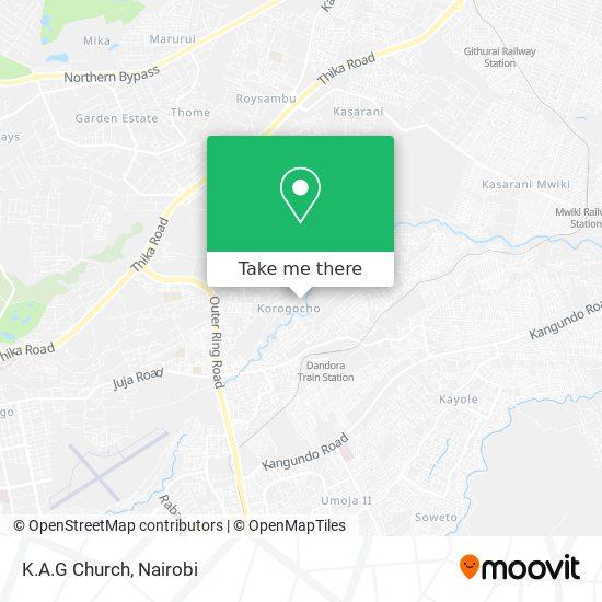 K.A.G Church map