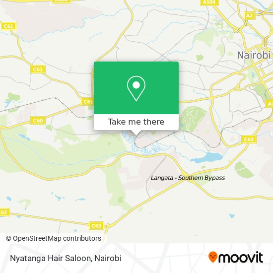 Nyatanga Hair Saloon map