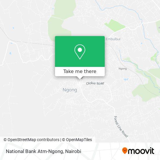 National Bank Atm-Ngong map