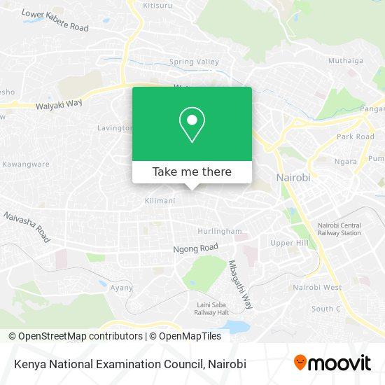 Kenya National Examination Council map