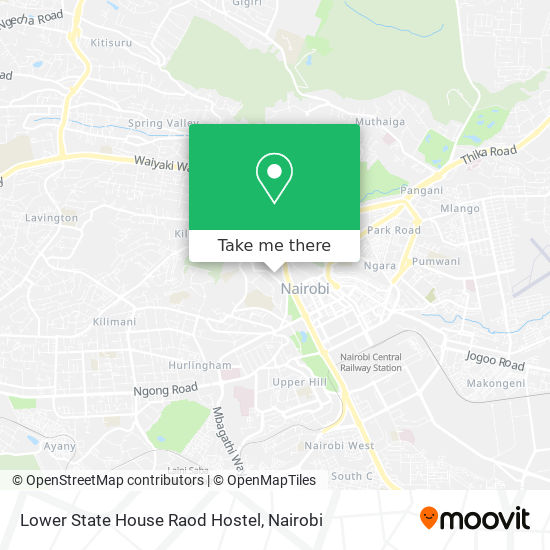 Lower State House Raod Hostel map