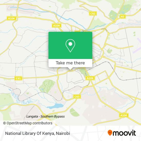 National Library Of Kenya map