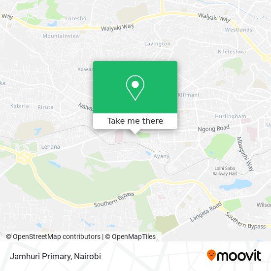 Jamhuri Primary map