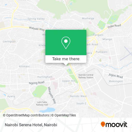 Nairobi Serena map