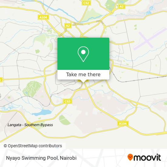 Nyayo Swimming Pool map