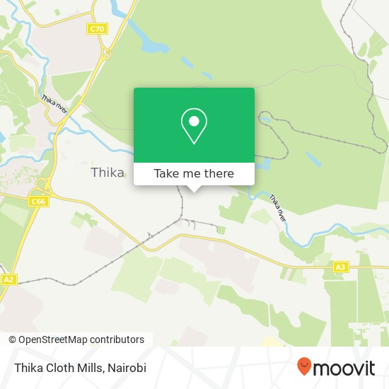 Thika Cloth Mills map