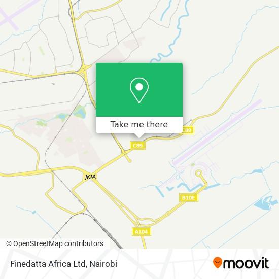 Finedatta Africa Ltd map