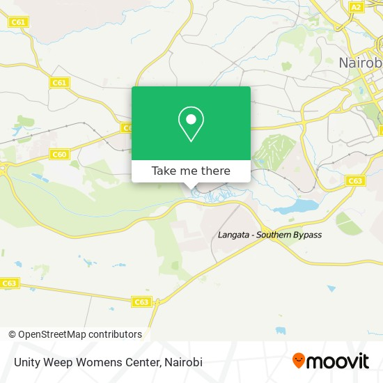 Unity Weep Womens Center map